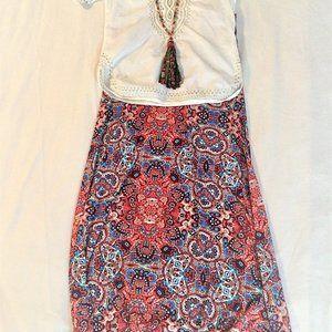 LuLaRoe Maxi Skirt in blues and reds BOGO